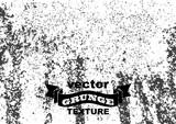 Grunge vector background. Black grain noise texture on white