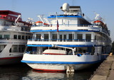 three-dec ship by berth at day to be anchored