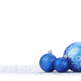 Glitter christmas balls