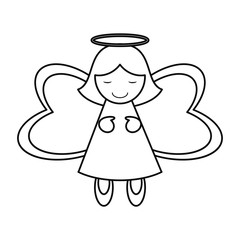 Angel icon. Merry christmas season celebration and decoration theme. Isolated design. Vector illustration