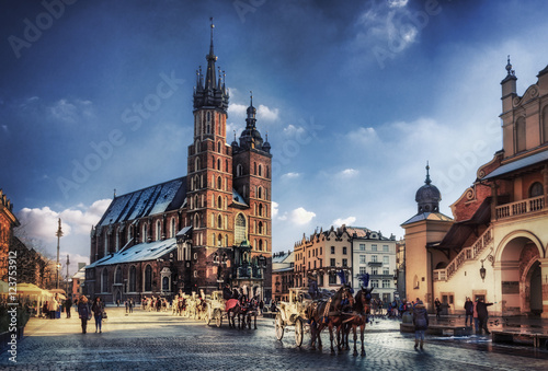 Foto op Plexiglas Krakau Cracow / Krakow town hall in Poland, Europe