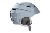 Helmet ski winter headwear, side view. 3D graphic