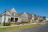Street of large suburban homes - 123766550