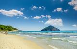 Beautiful Paradise beach, Thassos island, Greece. Probably the most beautiful Greek beaches. - 123793581