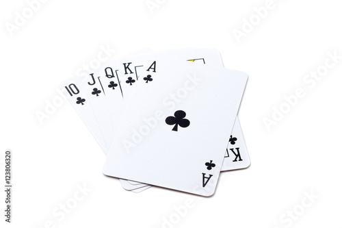 Poster Royal flush playing cards