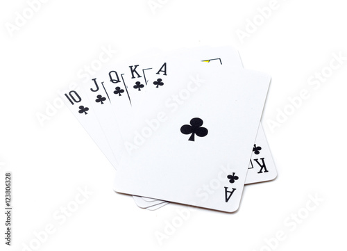 Poster Royal flush playing cards