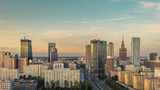 Fototapety Warsaw Downtown, late afternoon light, Poland