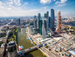 Aerial view of Moscow with downtown