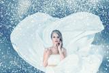 Snow winter fashion woman portrait