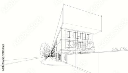 Architecture 3d illustration - 123850323