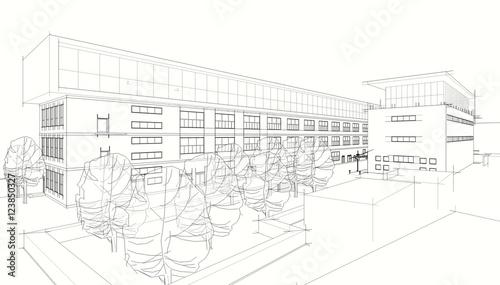 Architecture 3d illustration - 123850327