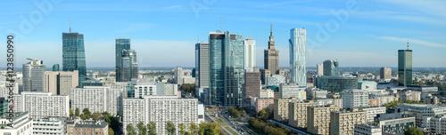 Warszawa, panorama miasta - 123850990