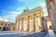 Leinwanddruck Bild - Berlin Brandenburg Gate, Berlin, Germany