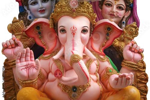 Plakát Hidu God ganesha,shiva,parvati idol