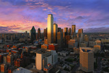 Dallas downtown view shot from reunion tower - Fine Art prints