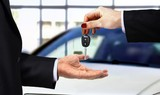 Car key handover at showroom