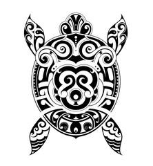 Turtle tattoo shape