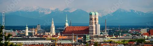 Foto op Plexiglas Panoramafoto s München Panorama