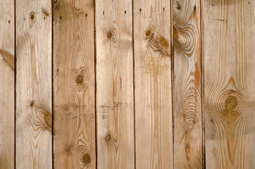 Background of unpainted bare brown wooden boards