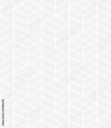 Vector modern abstract geometry grid pattern. gray seamless geometric background . subtle pillow and bed sheet design. creative art deco. hipster fashion print - 123893300