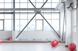 Close up of an empty fitness hall