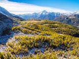 Valmalenco (IT) - Vista aerea panoramica autunnale verso il Monte Disgrazia