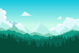 Forest and mount - 123913917