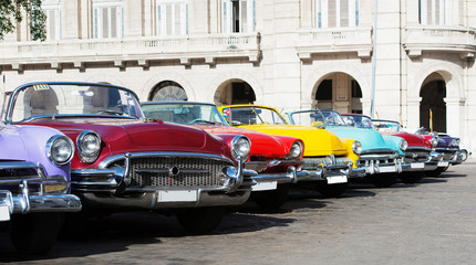 Colorful American Classic car on the street in Havana Cuba