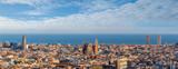 Sagrada Familia i panorama widoku miasta barcelona, Hiszpania