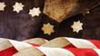 Usa flag. Waves Stars and Stripes