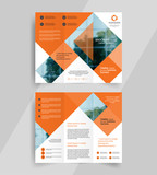 business tri-fold brochure layout design ,vector a4  brochure  template