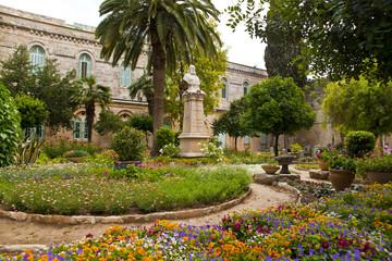 Piękny ogród w Jerozolimie