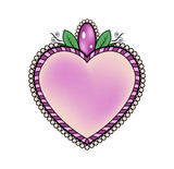 Colored heart vector , cuore colorato vettoriale