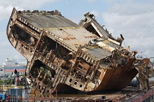In de dag Schipbreuk Cargo ship wreck