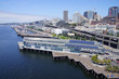 Aerial view of the Seattle waterfront,