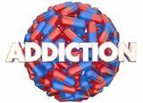 Addiction Pain Killers Prescription Medicine Abuse 3d Illustrati