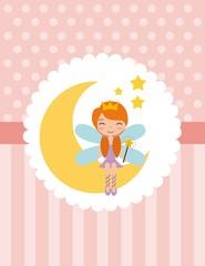 cute little fairy character vector illustration design