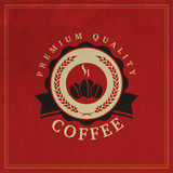 Coffee Shop Logo Design Element in Vintage Style for Logotype, Label, Badge and other design. Retro vector illustration.