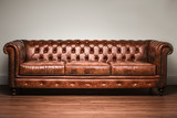 brown chesterfield sofa - 123987925