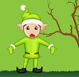 Surprised Elf with Empty Hands
