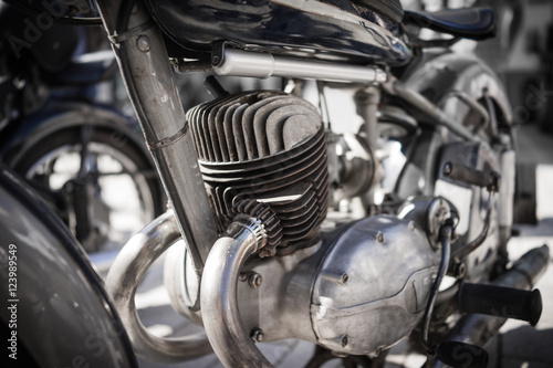 Classic Motorbike Poster