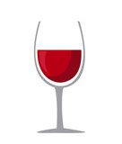 Wine glass icon - Vector