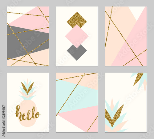 Abstract Design Cards Set - 123996167