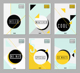 Abstract Design Posters Set - 123996983