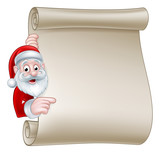 Santa Christmas Scroll Sign