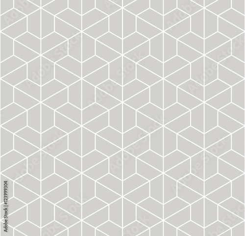 Vector modern abstract geometry pattern. gray seamless geometric background . subtle pillow and bed sheet design. creative art deco. hipster fashion print - 123999304