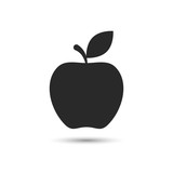 Fototapety Apple icon vector isolated illustration.