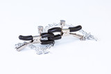 BDSM toy nipple clamp on white background