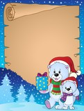Parchment with Christmas bears theme 2