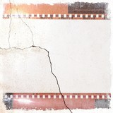 Grunge cracked film strip frame